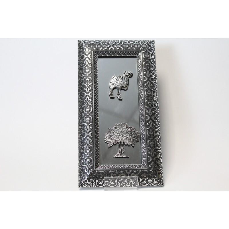 Acheter miroir oriental argent de motifs fleurs for Miroir oriental