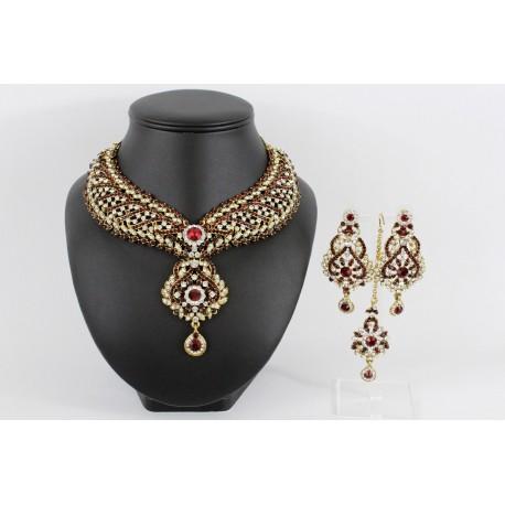 Bijoux indien parure blanche