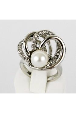 Bague perle en plaqué argent bijoux orientaux