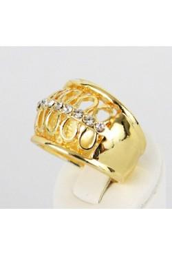 bague en plaqué or ornée de zirconiums