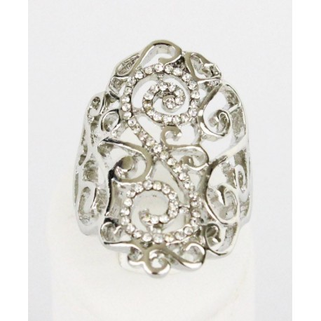 Bague en plaqué argent bijou oriental