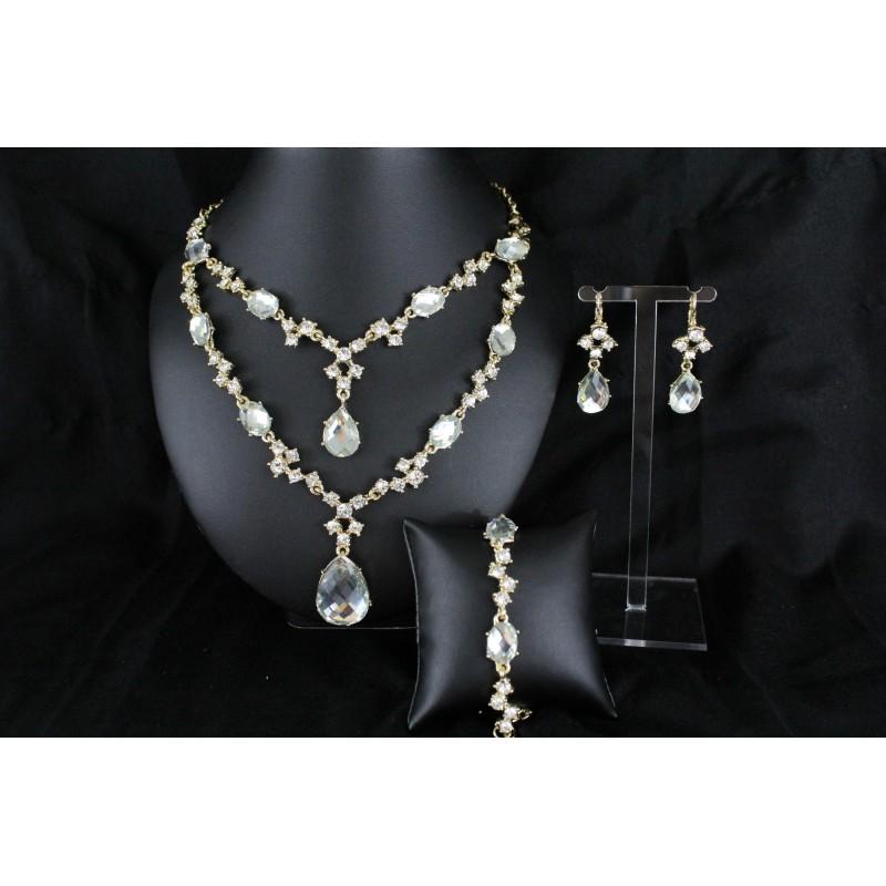 achat parure bijoux orientaux de mariage pas cher pour femme collier bracelet boucles d 39 oreilles. Black Bedroom Furniture Sets. Home Design Ideas