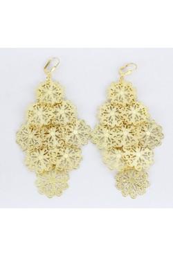 Boucles d'oreilles pendantes en plaqué or