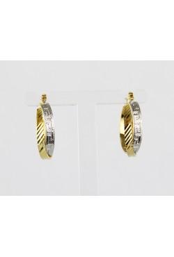 Boucles d'oreilles créoles bijoux orientales en plaqué or et argent