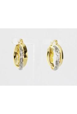Boucles d'oreilles créoles bijoux orientales en plaqué or et argent torsadé