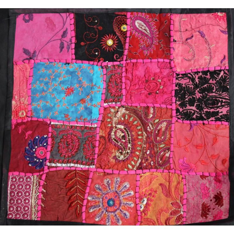 Acheter housse de coussin en patchwork for Housse de coussin patchwork