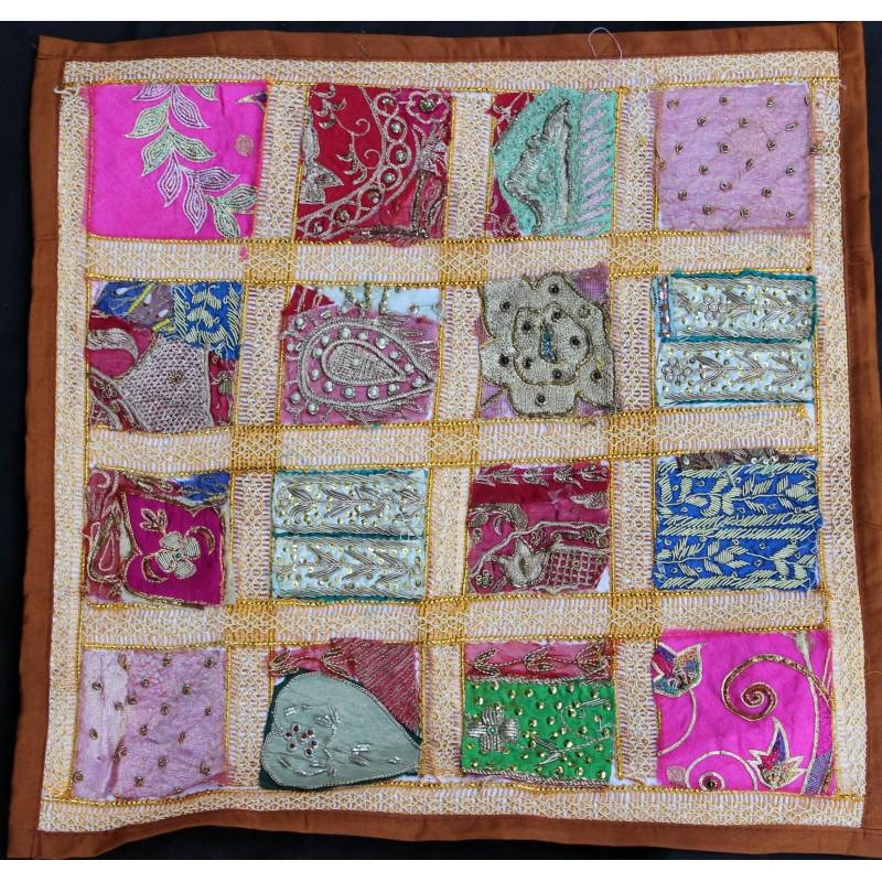 Housse coussin patchwork for Housse de coussin patchwork