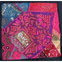 Housse coussin patchwork