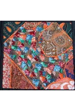 Housse de coussin en patchwork