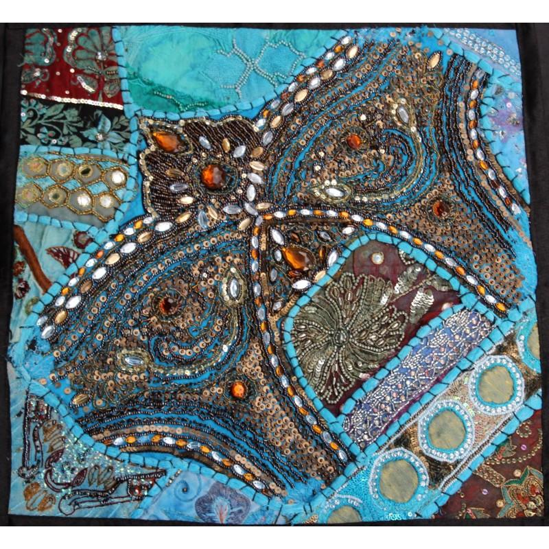 Housse de coussin 40x40 coussin patchwork for Housse de coussin patchwork