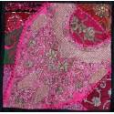 Housse de coussin patchwork indien