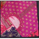 Housse de coussin rose indien