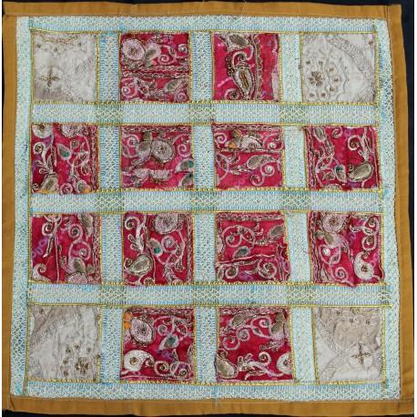 Housse de coussin patchwork