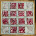Housse de coussin à carreaux rose et blanc