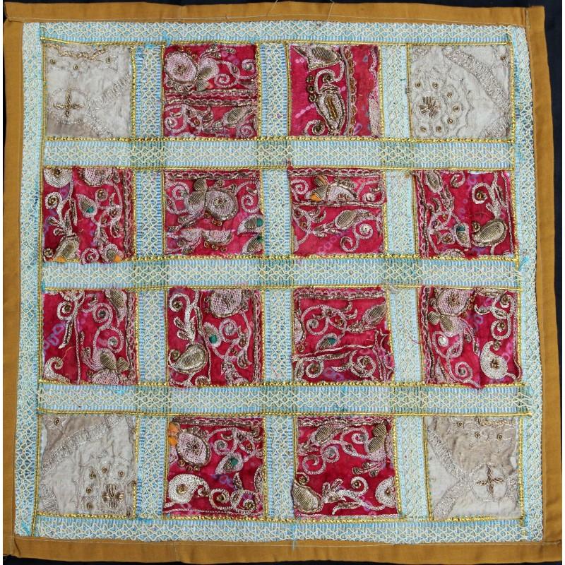 Housse de coussin carreaux rose et blanc for Housse de coussin rose