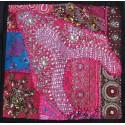 Housse de coussin en patchwork indien