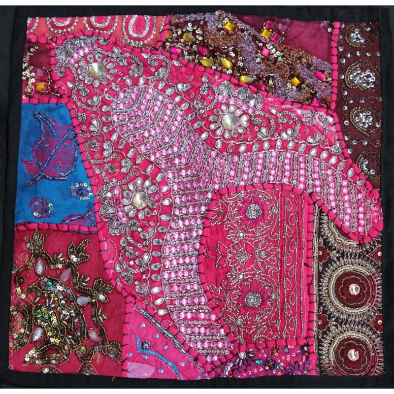 Housse coussin patchwork indien for Housse de coussin patchwork