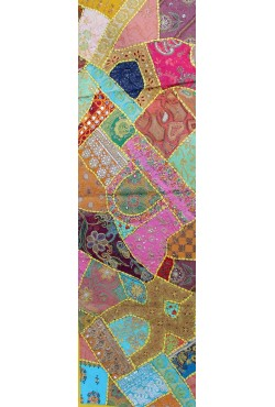 Artisanat indien chemin de table patchwork meninx sas - Chemin de table en patchwork ...