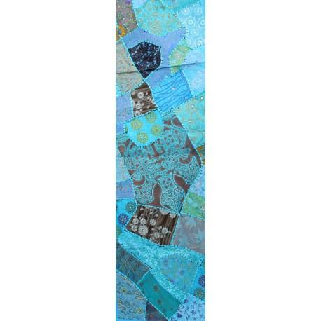 chemin de table bleu