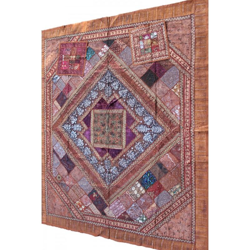 acheter patchwork indien couvre lit. Black Bedroom Furniture Sets. Home Design Ideas