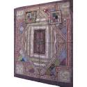Couvre lit 220cm x 260cm patchwork indien