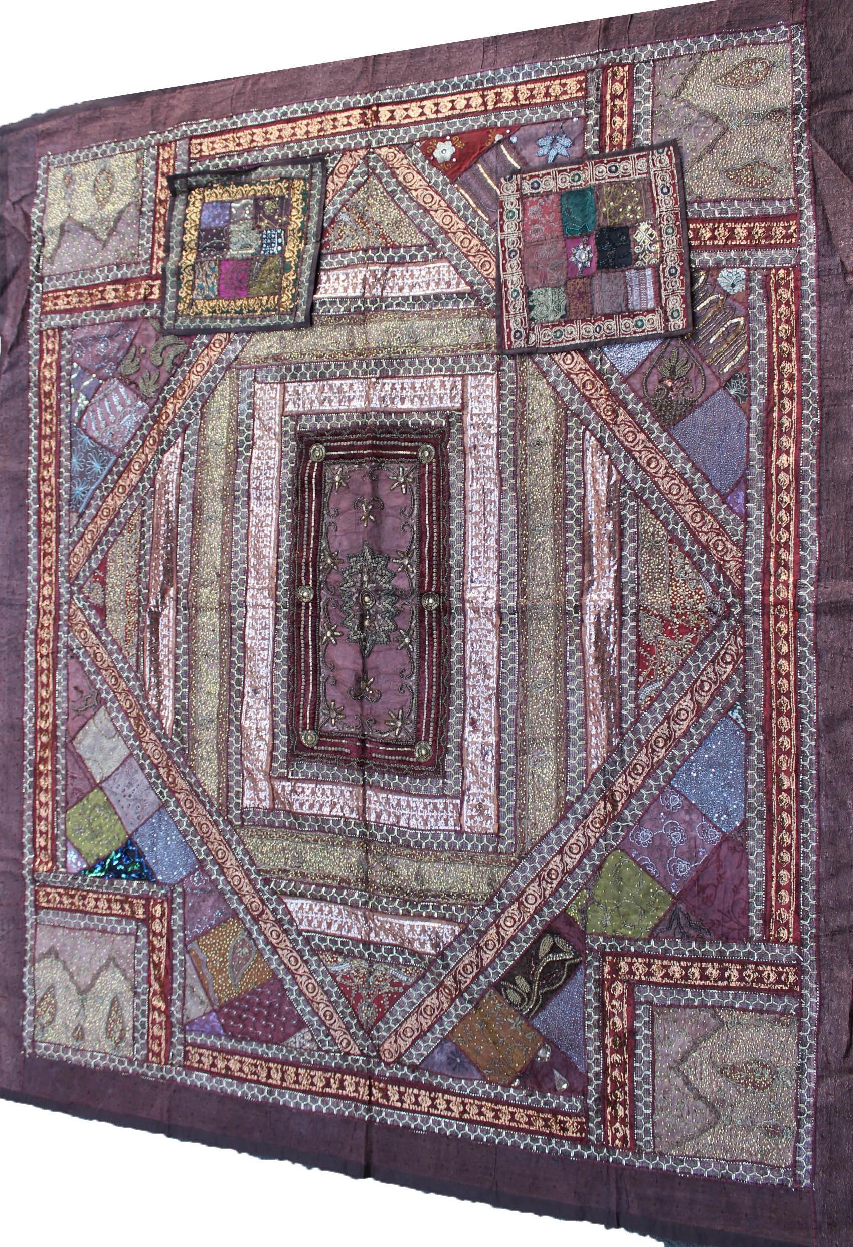 couvre lit patchwork indien Acheter un couvre lit   dessus de lit en patchwork   Ethnikka.fr couvre lit patchwork indien