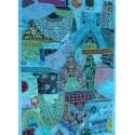 Décoration indienne nappe tenture patchwork