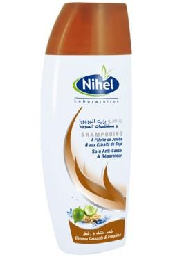 Shampoing à l'huile de jojoba et de soja qui apporte souplesse et tonicité Nihel