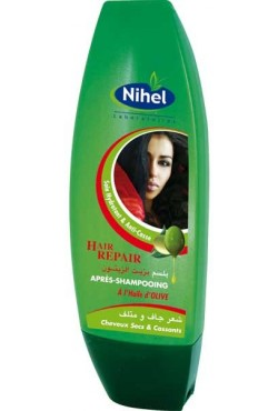 Après-Shampoing à l'huile d'olive soins pour cheveux abîmés Nihel