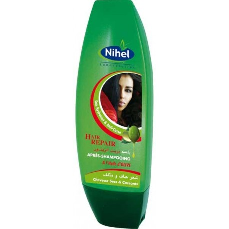 acheter apr s shampoing l 39 huile d 39 olive pour cheveux ab m s hair repair nihel. Black Bedroom Furniture Sets. Home Design Ideas