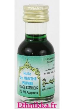 Huile de menthe poivré noircit le henné