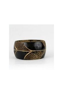 Bracelet africain en coque de coco fait main