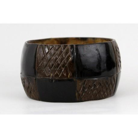 Bracelet en coque de coco du Kenya