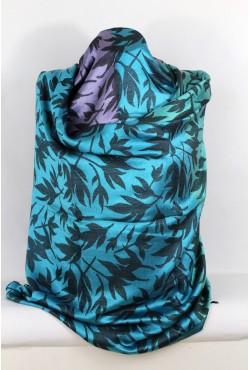 Etole en soie tissés bleue