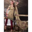 Salwar kameez décousu brodée sablé au motif de fleurs