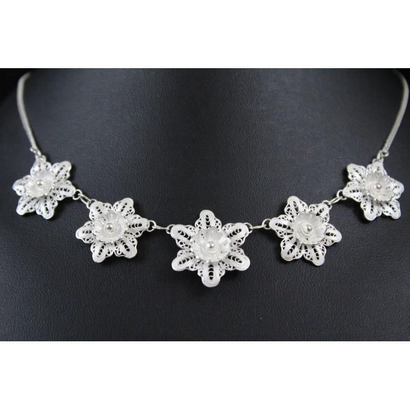 Bijoux Argent Filigrane : Bijoux en collier argent? filigrane fleurs