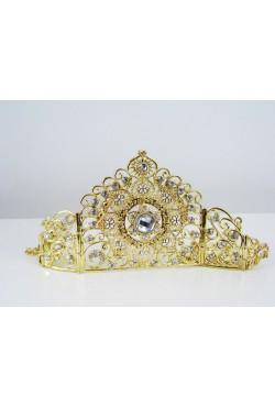 Bijoux de tête diadème en plaqué or
