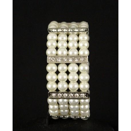 Bracelet perles en plaqué or