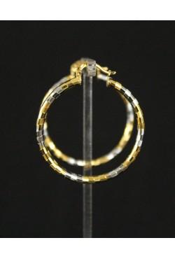 Boucles d'oreilles créoles en plaqué or et argent