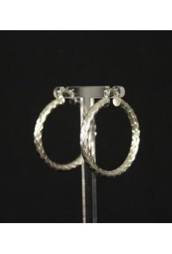Boucles d'oreilles créoles plaqué argent