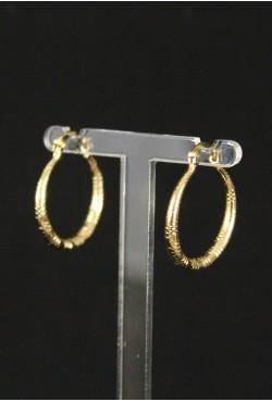 Boucles d'oreilles indienne plaqué or