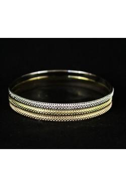 Bracelets trois tons plaqué or et argent
