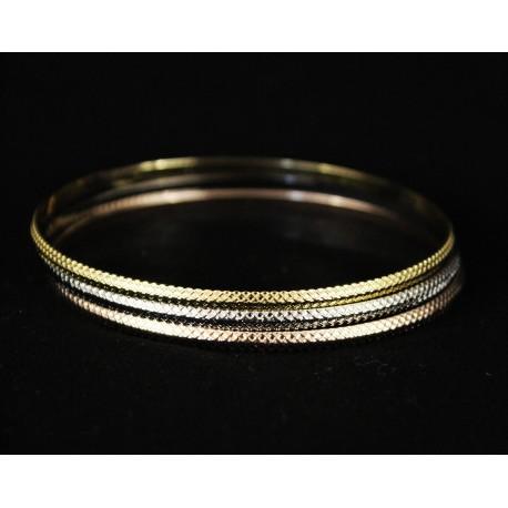 Bracelets trois tons plaqué or