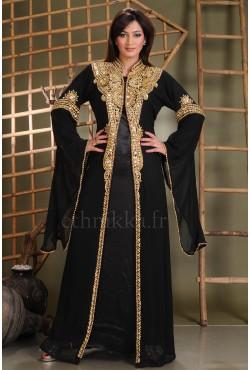 Robe dubaï noire