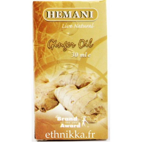 Huile essentielle de gingembre tonifiante
