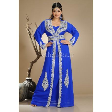 Robe dubai bleue kaftan