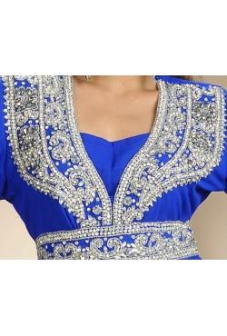 Caftan robe dubai bleue
