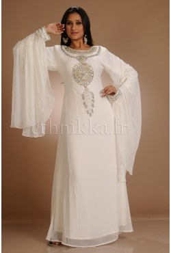 Robe dubai blanche