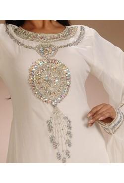 Robe orientale dubai blanche