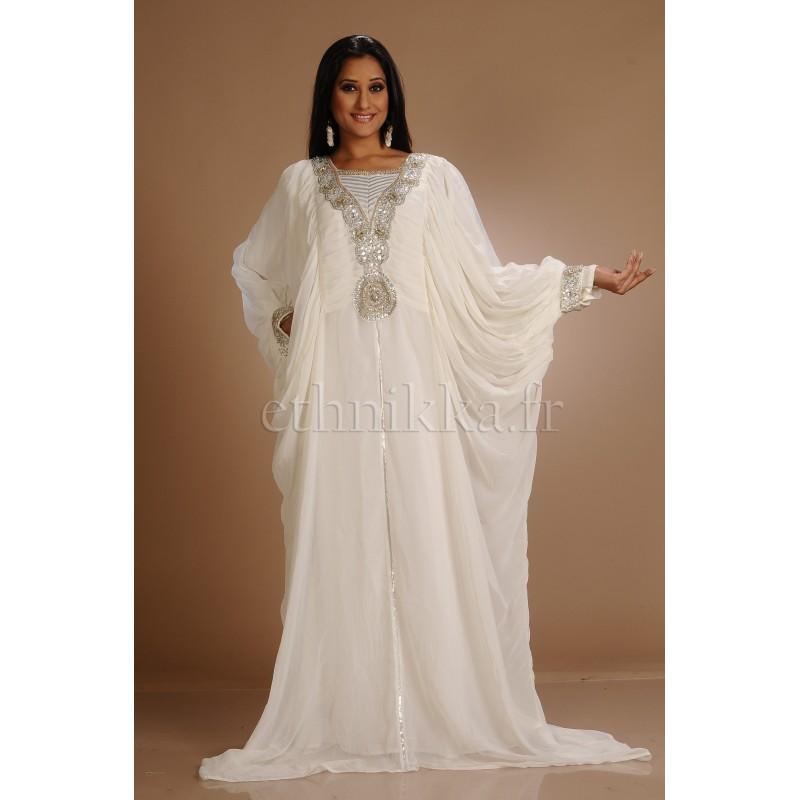 Robe Dubai Papillon Blanche